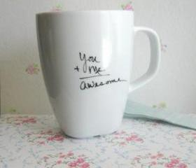 Personalized Coffee/Tea Mug - You and Me- Awesome - one mug